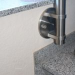 Edelstahl Handlauf Geländerpfosten mit Seitenanschlag